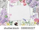 watercolor flowers  | Shutterstock . vector #330033227