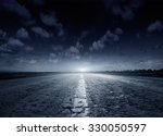 night road against the... | Shutterstock . vector #330050597