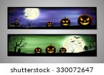 halloween banners set. vector... | Shutterstock .eps vector #330072647