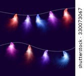a festive background. glowing... | Shutterstock .eps vector #330073067