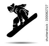 vector silhouette snowboarder | Shutterstock .eps vector #330082727