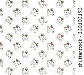 cute cartoon cats pattern. | Shutterstock .eps vector #330103193