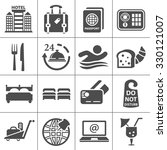 hotel icons | Shutterstock .eps vector #330121007