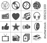 entertainment icons set | Shutterstock .eps vector #330121103