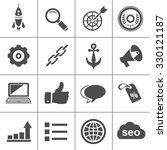 internet marketing icons   seo  ... | Shutterstock .eps vector #330121187