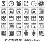 time and date icons | Shutterstock .eps vector #330125123