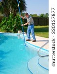 residential pool cleaning... | Shutterstock . vector #330127877
