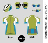 bike or bicycle clothing set. ... | Shutterstock .eps vector #330143597