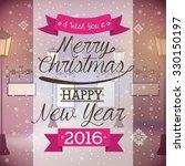 happy new year 2016 design ... | Shutterstock .eps vector #330150197