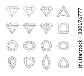 set of isolated gem stones. set ...   Shutterstock . vector #330176777