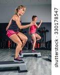 women couple training hard over ... | Shutterstock . vector #330178547
