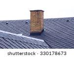 Old Brick Chimney On Roof