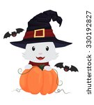 halloween vector cat | Shutterstock .eps vector #330192827