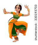 Indian Dancer. Cartoon Vector...