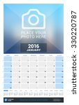 january 2016. wall monthly... | Shutterstock .eps vector #330220787