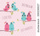 Couple Bird Branches   Pink An...