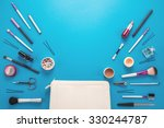 beautiful make up bag with...   Shutterstock . vector #330244787