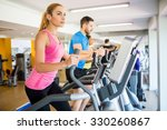 fit people working out using... | Shutterstock . vector #330260867