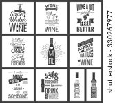 set of vintage wine typographic ... | Shutterstock .eps vector #330267977