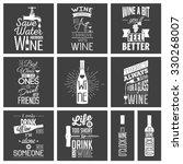 set of vintage wine typographic ... | Shutterstock .eps vector #330268007
