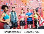 fit people getting ready to... | Shutterstock . vector #330268733