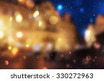 winter night street  blurred... | Shutterstock . vector #330272963