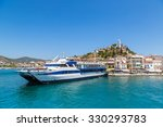 ferry on poros island in a... | Shutterstock . vector #330293783