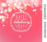 happy valentines day greeting... | Shutterstock .eps vector #330294413