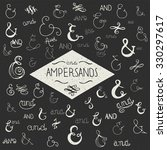 hand drawn elegant ampersands... | Shutterstock .eps vector #330297617