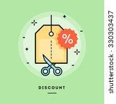 concept of discount  line flat... | Shutterstock .eps vector #330303437