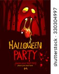 halloween party invitation... | Shutterstock .eps vector #330304997