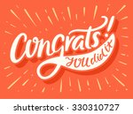 congrats  you did it ... | Shutterstock .eps vector #330310727