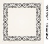 vintage baroque floral frame.... | Shutterstock . vector #330311303