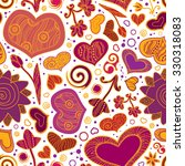 valentines day card  ornate... | Shutterstock .eps vector #330318083