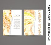 set of vector design templates. ... | Shutterstock .eps vector #330321353