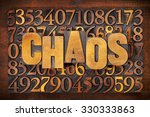 chaos and numbers word abstract ... | Shutterstock . vector #330333863