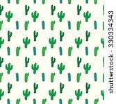Cactus Seamless Pattern Vector...