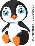 baby penguin | Shutterstock .eps vector #330340337