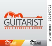 vector guitarist music school... | Shutterstock .eps vector #330347723