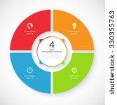 vector infographic circle.... | Shutterstock .eps vector #330355763