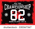 new york t shirt design ... | Shutterstock .eps vector #330367367