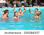 young people having fun in the... | Shutterstock . vector #330386537