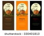 multicolored halloween banners...   Shutterstock .eps vector #330401813