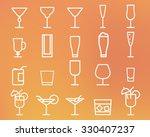 beverage  drinks thin line... | Shutterstock . vector #330407237