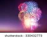 a large fireworks event with... | Shutterstock . vector #330432773