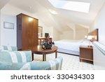 bedroom interior in loft... | Shutterstock . vector #330434303