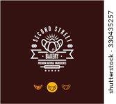 bakery logo  croissant  pastry... | Shutterstock .eps vector #330435257