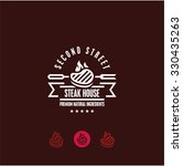 steak house logo  steak icon ... | Shutterstock .eps vector #330435263