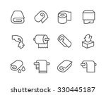 simple set of towels and... | Shutterstock .eps vector #330445187