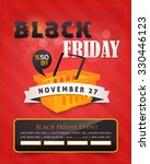 black friday sale poster  flyer ... | Shutterstock .eps vector #330446123